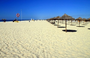 The beach at Isla De Tavira - not long now