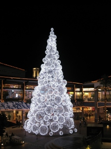 Christmas tree at Forum Shopping in Faro